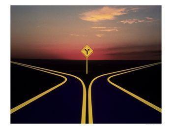 Diverging-Roads
